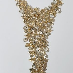 Christian Siriano multi stone statement necklace